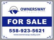 Advertisement Design Kilpailutyö #27 kilpailuun Ownersway real estate yard sign
