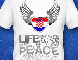 #37 para Design a Croatian fan T-shirt por clementalwin