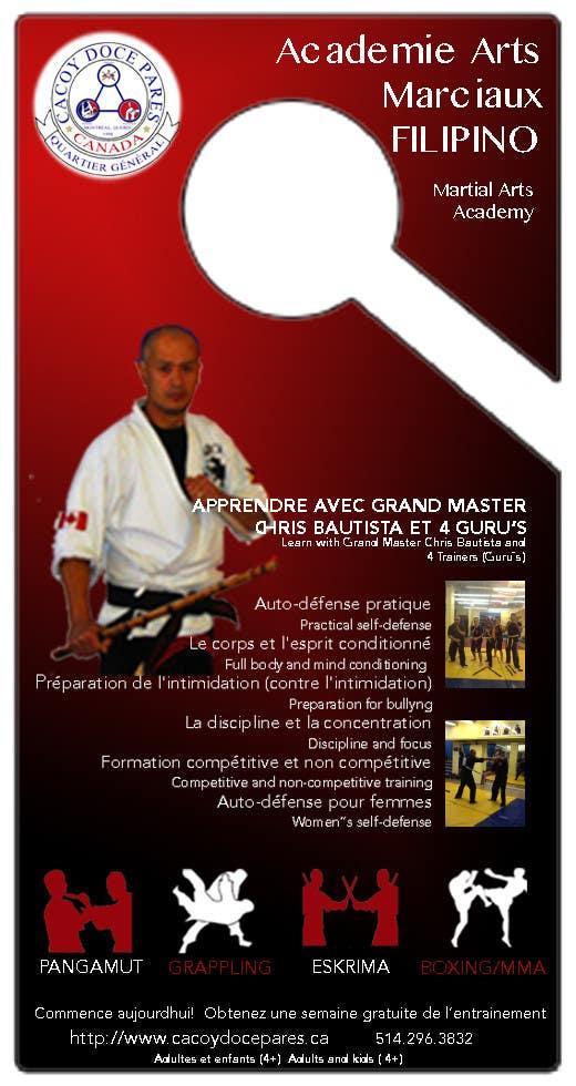 Konkurrenceindlæg #15 for Design a door hanger/brochure for a Filipino Martial Arts dojo in Montreal
