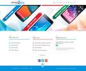 Graphic Design Kilpailutyö #45 kilpailuun Design a Website Mockup for a Mobile Device Company