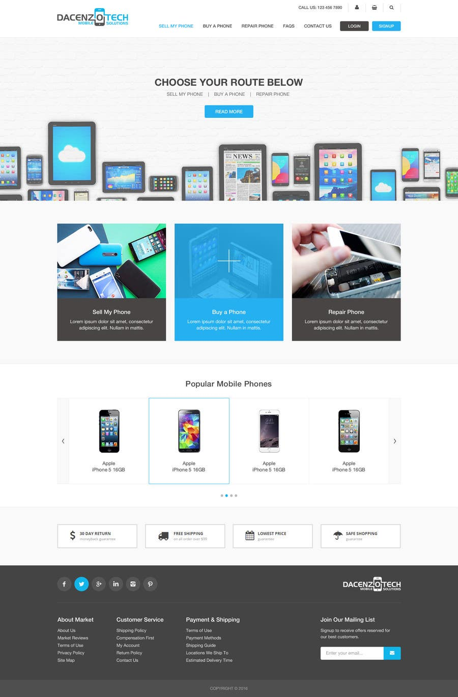 Kilpailutyö #75 kilpailussa Design a Website Mockup for a Mobile Device Company