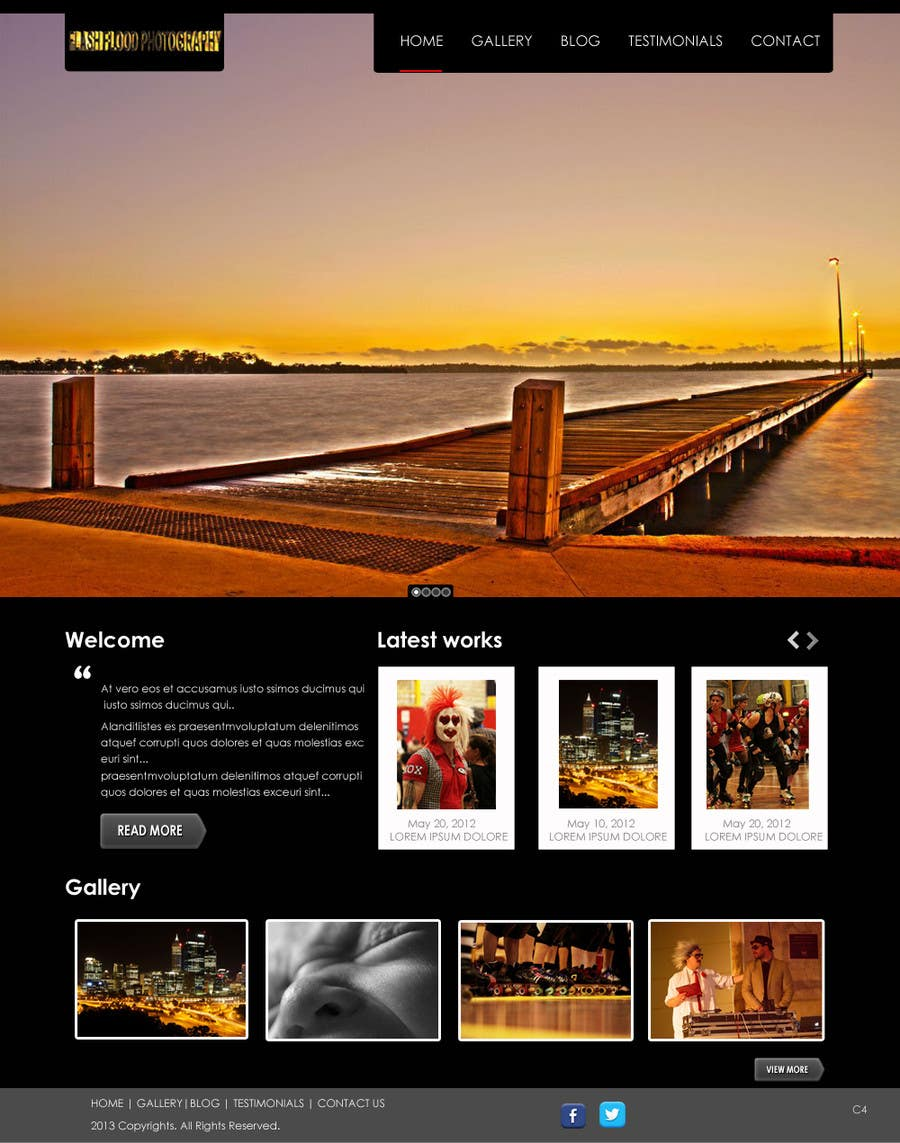 #20 for PSD design to responsive Wordpress theme by online3