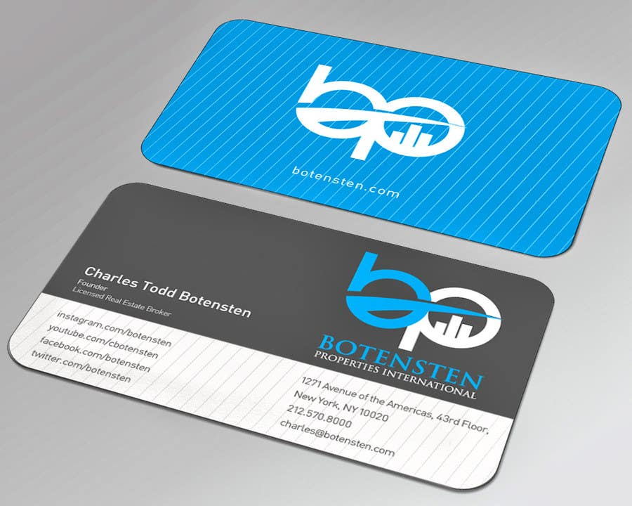 Proposition n°120 du concours Design Business Card for NYC Real Estate Firm