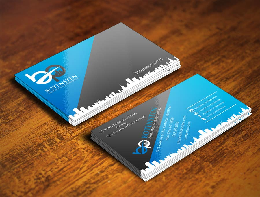 Proposition n°246 du concours Design Business Card for NYC Real Estate Firm