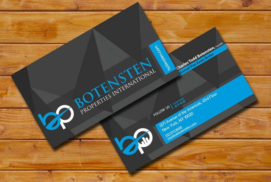 Proposition n°214 du concours Design Business Card for NYC Real Estate Firm