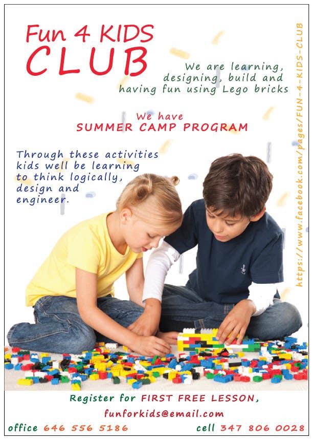 Konkurrenceindlæg #4 for Design a Flyer for Kids club