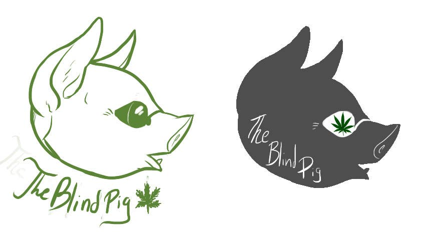 """#115 for Design a Logo for """"The Blind Pig"""" - A Marijuana Retail Store by RileyOMalley"""