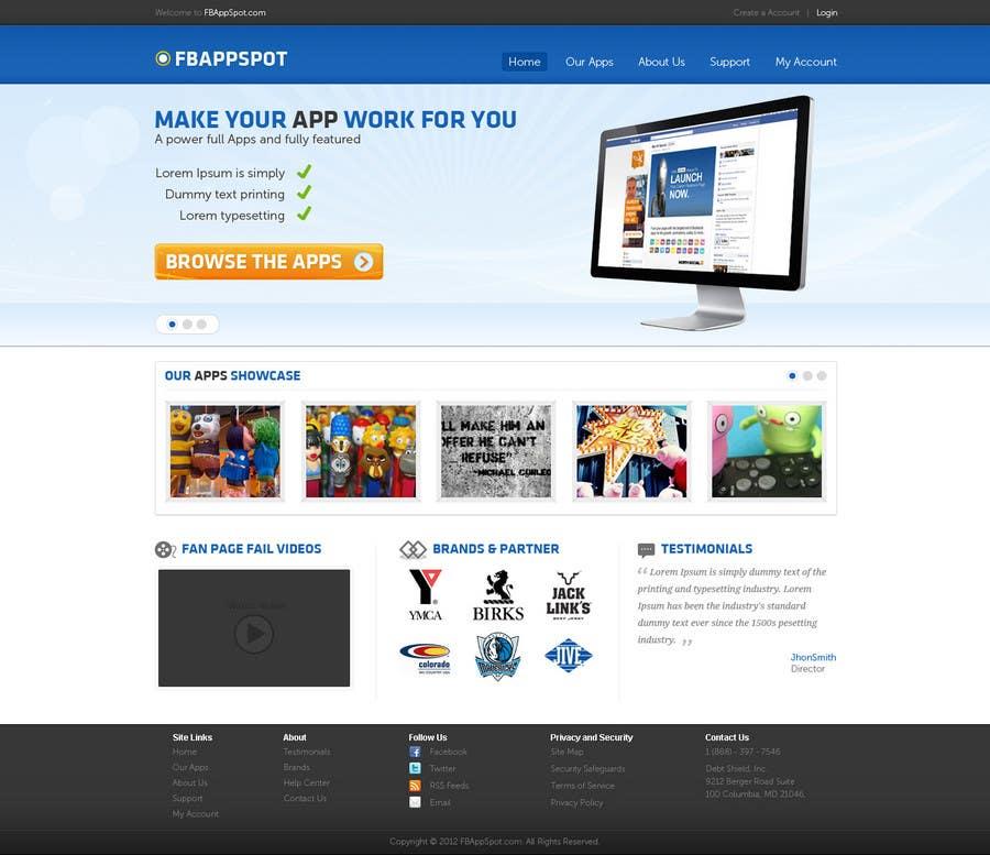 Contest Entry #                                        4                                      for                                         Wordpress Theme Design for FB App Spot