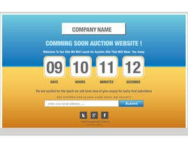 #18 for Design a Coming Soon Landing Page For an Auction Website af zaldslim