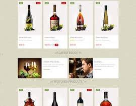 Nro 9 kilpailuun Design a Website Mockup For A Liquor Store käyttäjältä mazcrwe7