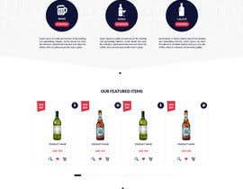 DLS1 tarafından Design a Website Mockup For A Liquor Store için no 8