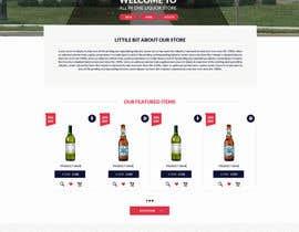 DLS1 tarafından Design a Website Mockup For A Liquor Store için no 23