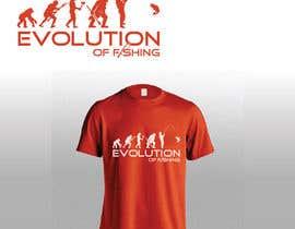 "fezibaba tarafından Design an ""Evolution of Man"" Fishing T-Shirt için no 3"
