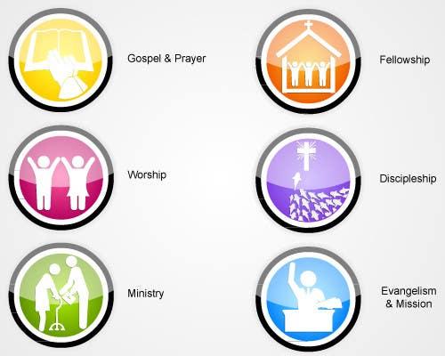 Inscrição nº                                         45                                      do Concurso para                                         Eye-catching graphic logo + 5 clear icons for our church group