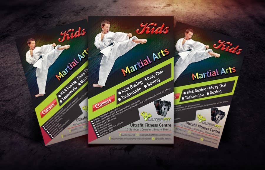 Kilpailutyö #35 kilpailussa Design a Flyer for Kids Martial Arts Classes