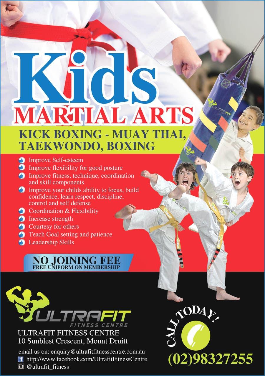Kilpailutyö #30 kilpailussa Design a Flyer for Kids Martial Arts Classes