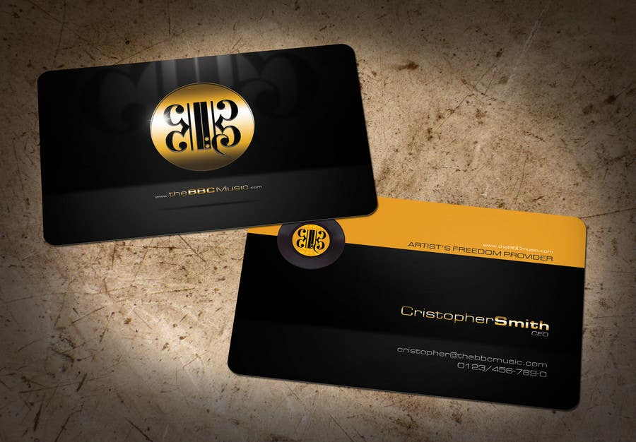 Contest Entry #113 for Business Card Design for The BBC Music