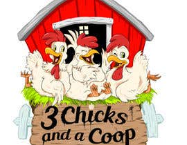 #89 untuk NEED SPUNKY CARTOON-LIKE CHICKENS FOR LOGO DESIGN oleh momotaros