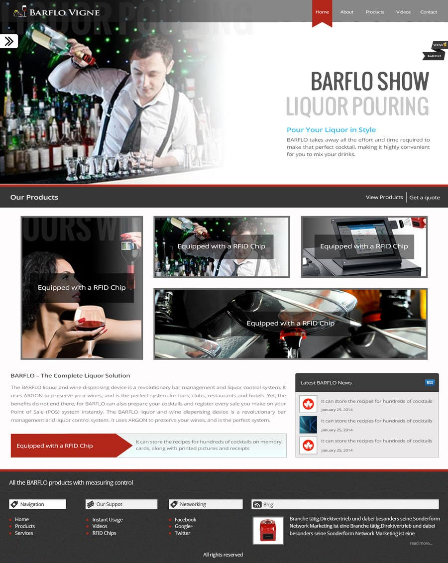 #34 for Design a Website Mockup for full website by manishb1