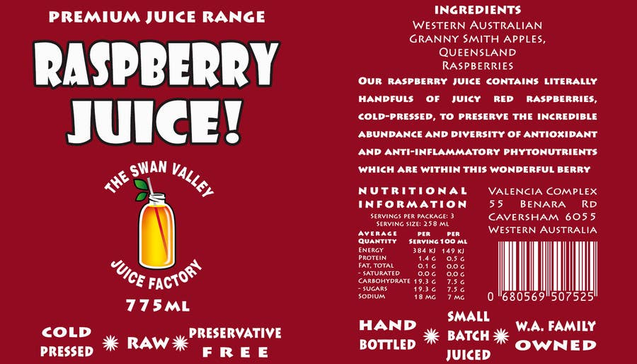 #51 for Design a Label for Juice Bottle by SaranyaKrish