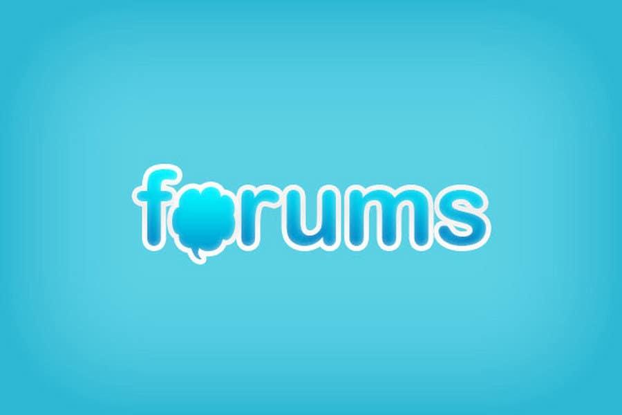Konkurrenceindlæg #                                        32                                      for                                         Logo Design for Forums.com