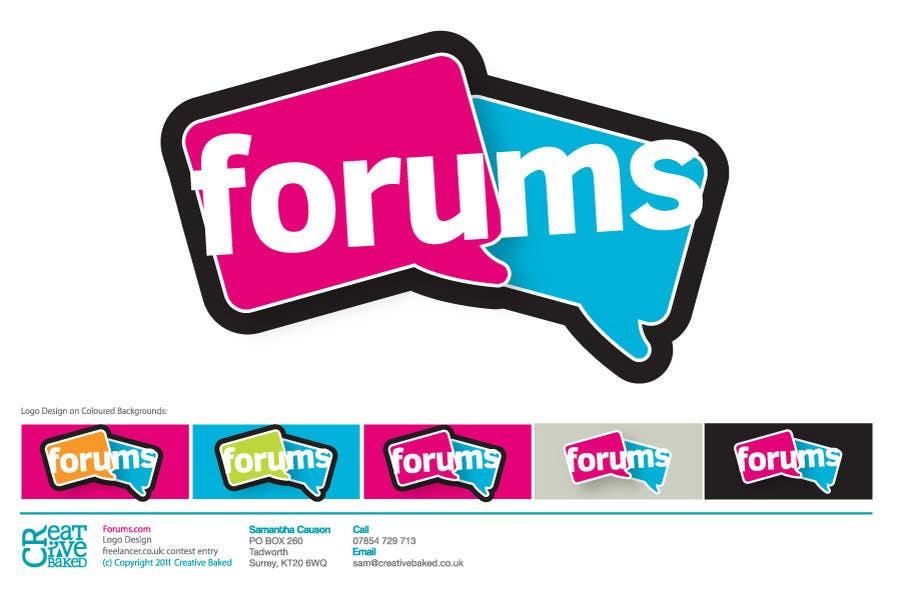 Contest Entry #4 for Logo Design for Forums.com