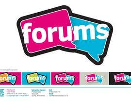 nº 4 pour Logo Design for Forums.com par CreativeBaked