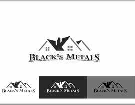 #96 para Design a Logo for Black's Metals por roman230005