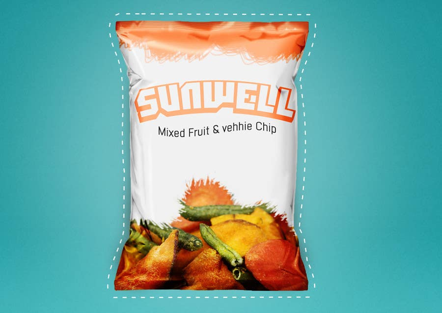 "Kilpailutyö #19 kilpailussa Create Print and Packaging Designs for Health snack ""Veggie and Fruit chip """