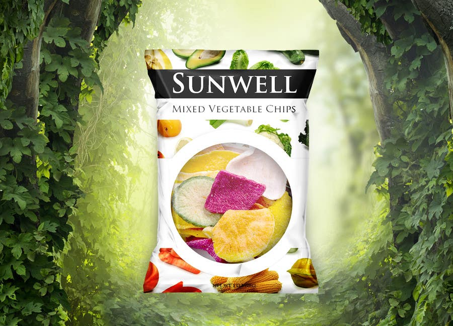 "Kilpailutyö #17 kilpailussa Create Print and Packaging Designs for Health snack ""Veggie and Fruit chip """