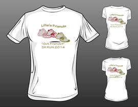 "#4 para 2014 Lillie's Friends ""Got Friends?"" 5K Race Shirt Design por TanaCx"