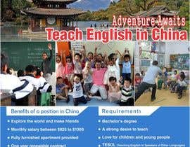 "Nro 45 kilpailuun Design a Flyer: ""Adventure Awaits - Teach English in China"" käyttäjältä HoneyITSolution"