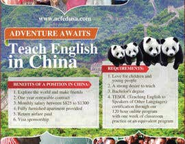 "nº 33 pour Design a Flyer: ""Adventure Awaits - Teach English in China"" par amcgabeykoon"