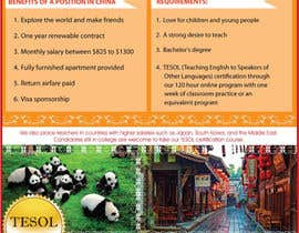 "nº 67 pour Design a Flyer: ""Adventure Awaits - Teach English in China"" par amcgabeykoon"
