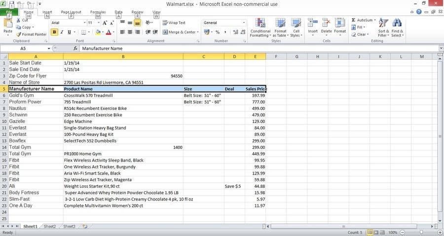 Konkurrenceindlæg #                                        4                                      for                                         Capture information for store website sales flyers and enter into spreadsheet