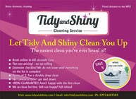 Graphic Design konkurrenceindlæg #12 til Design a Flyer for Tidy and Shiny (cleaning company)