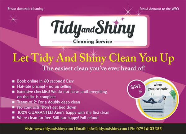 Konkurrenceindlæg #12 for Design a Flyer for Tidy and Shiny (cleaning company)