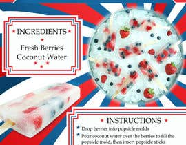 sadongrohiik tarafından Coconut Water and Fresh Berry Popsicles for 4th of July için no 7
