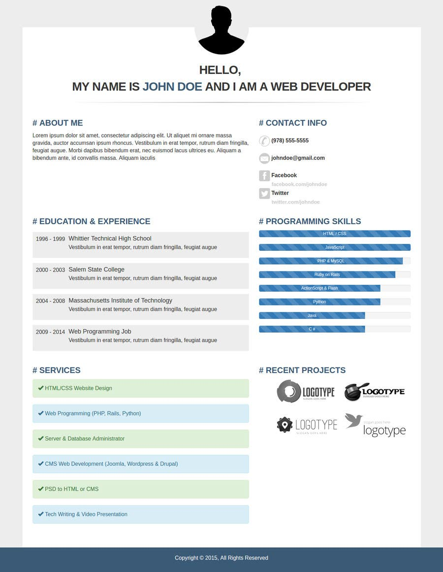 make me a new cv resume lancer 13 for make me a new cv resume by raghavanand