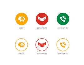 Nro 68 kilpailuun 3 Icons for Charity Website käyttäjältä stark1992