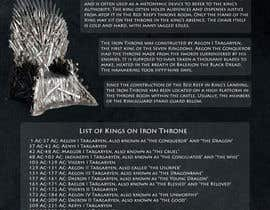 dymetrios tarafından Infographic based on Game of Thrones (Fun and Creative) için no 3