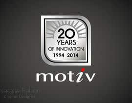 #99 para Design a Logo for 20th Anniversary of Motiv por NataliaFaLon
