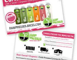 nº 15 pour Design a Flyer for Cold Pressed Juice par meredithmcdaris