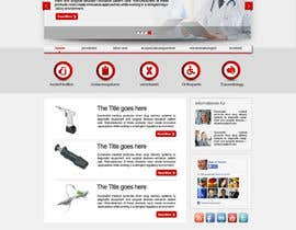 #11 untuk Design of a new fresh webdesign for a medical company oleh zidan1