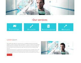 nº 13 pour Design of a new fresh webdesign for a medical company par outes