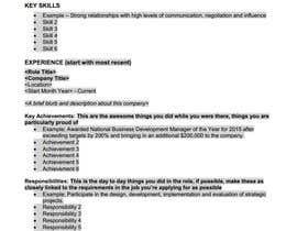 Nro 5 kilpailuun Easy to use - Word template for Resume käyttäjältä lauramhay