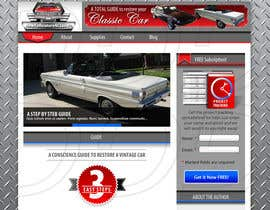 ntandodlodlo tarafından Design a Website Mockup for Classic Car Restoration Site. Layout provided. Just need your magical touches. için no 7