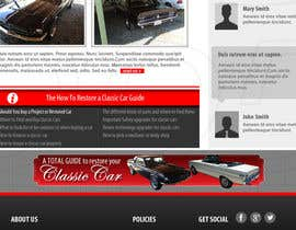 ntandodlodlo tarafından Design a Website Mockup for Classic Car Restoration Site. Layout provided. Just need your magical touches. için no 15
