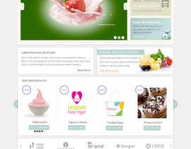 #14 for Yogurt website Home page af bsalsth