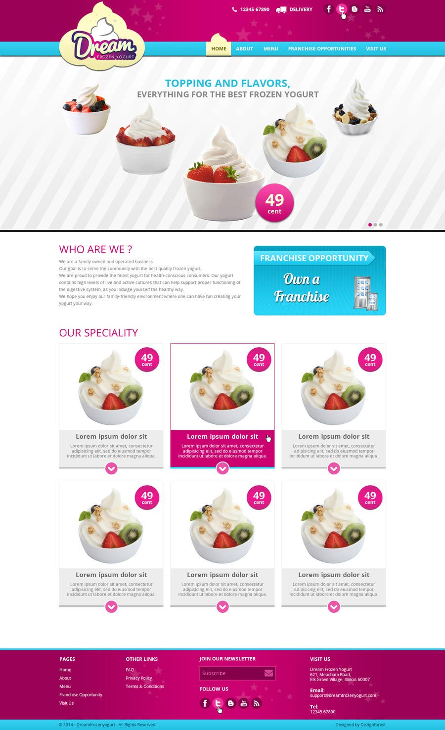 #35 for Yogurt website Home page by Patelasmi